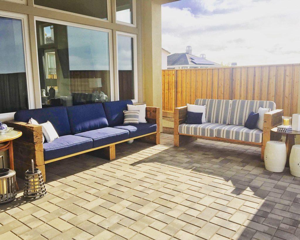 Patio outdoor sofa home decor