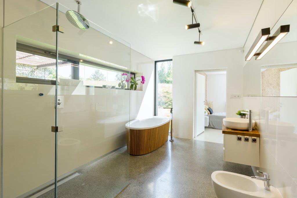 sustainable bathroom interior